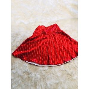 Rockabilly Red Polkadot Skirt